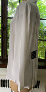 White Tunic with Dot Trim