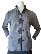 Style 151 Textured Grey Knit Cardigan