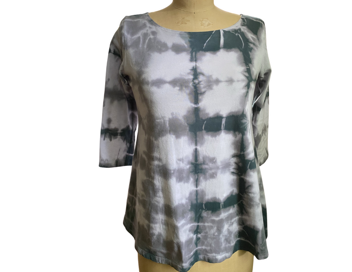 Tie Dyed Scoop Neck Tunic