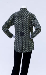 """5105"" Tunic with Single Back Pleat; 3200 Mid Length Variation"