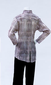 Style 5105 Striped Chanderi Tunic