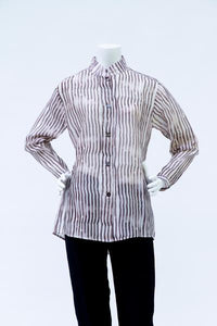 Style 5105, 3200 Chanderi Stripe Tunic and Mid-Length