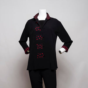"""910"" Petite Cut Jacket with Black/ Red Trim"