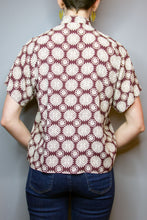 """Lucy"" Top - Brown, Ivory Mandalas"