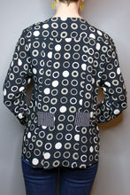 V-Neck Top - Grey Circles