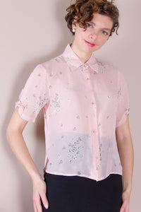Vintage See by Chloe Silk Dice Blouse