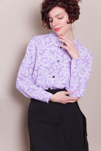 Crop Top - Lavender Paisley