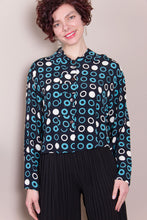 Crop Top - Blue Circles