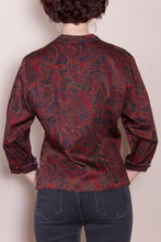 3/4 Sleeve Top - Dark Paisley