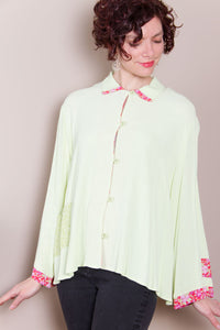 Lime Swing Jacket - Pink Floral