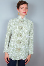 Mandarin Collar Tunic Top - Green Brick