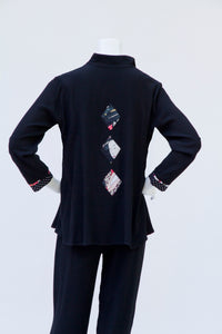 """910"" A-Line Top with Geisha Trim- A Timeless Investment!"