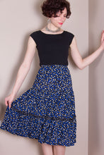 Flirty Skirt - Blue Dots XL