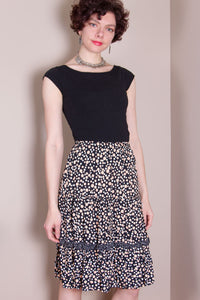 Flirty Skirt - Peach Dot