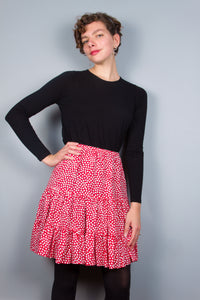 Flirty Skirt - Red & White Dots