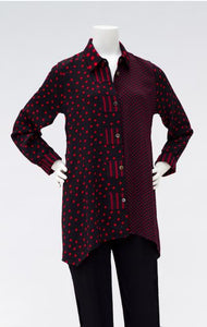 Style 1012 Long Tunic in Mixed Patterns