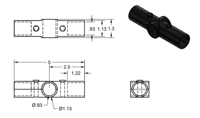 90 Degree Connector Dimensions