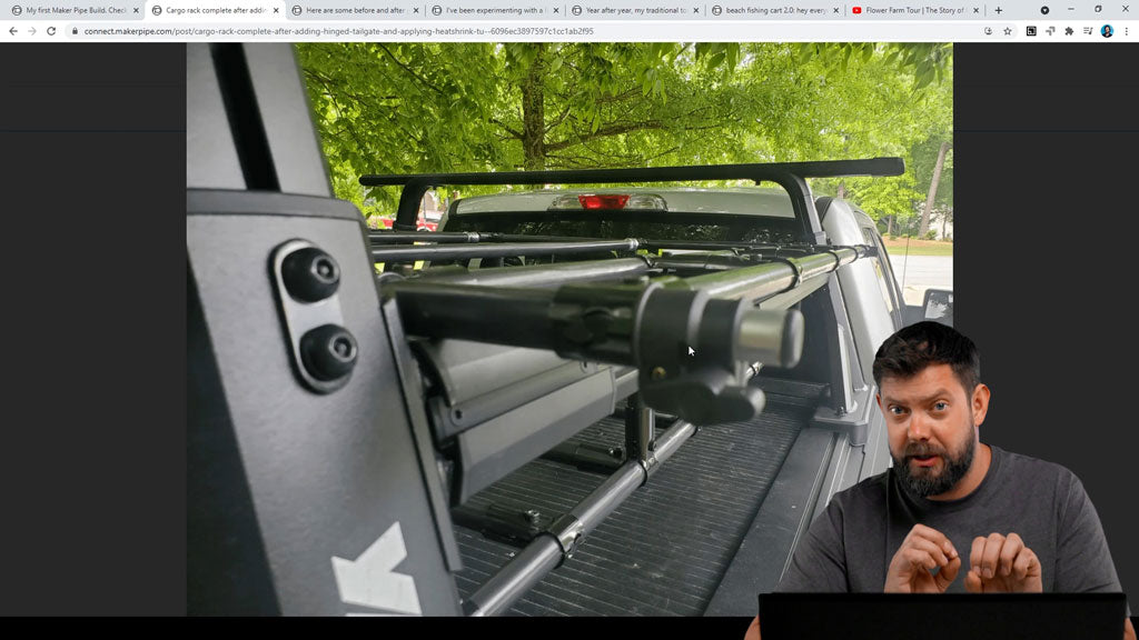 DIY Truck Cargo Rack With Tailgate 2