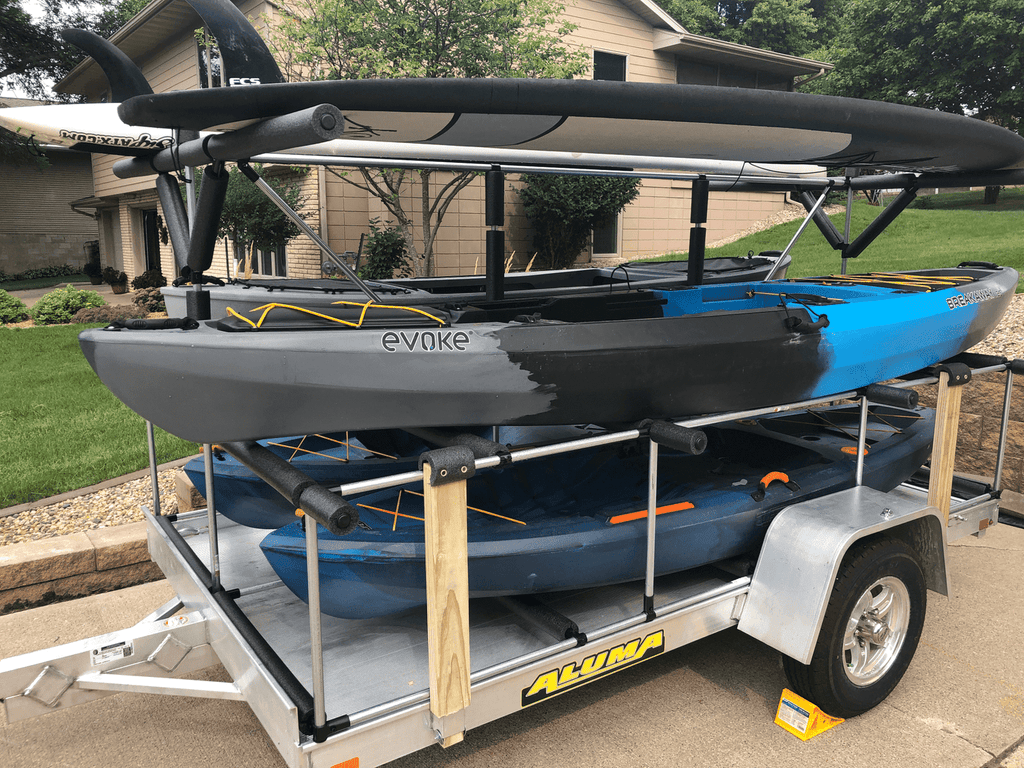 Aluma Trailer Kayak/Paddleboard Rack