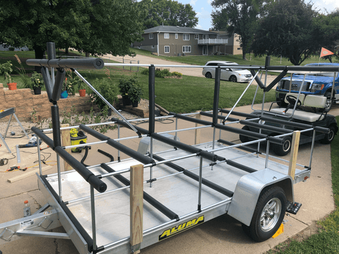 Sturdy Kayak and Supboard Trailer Rack