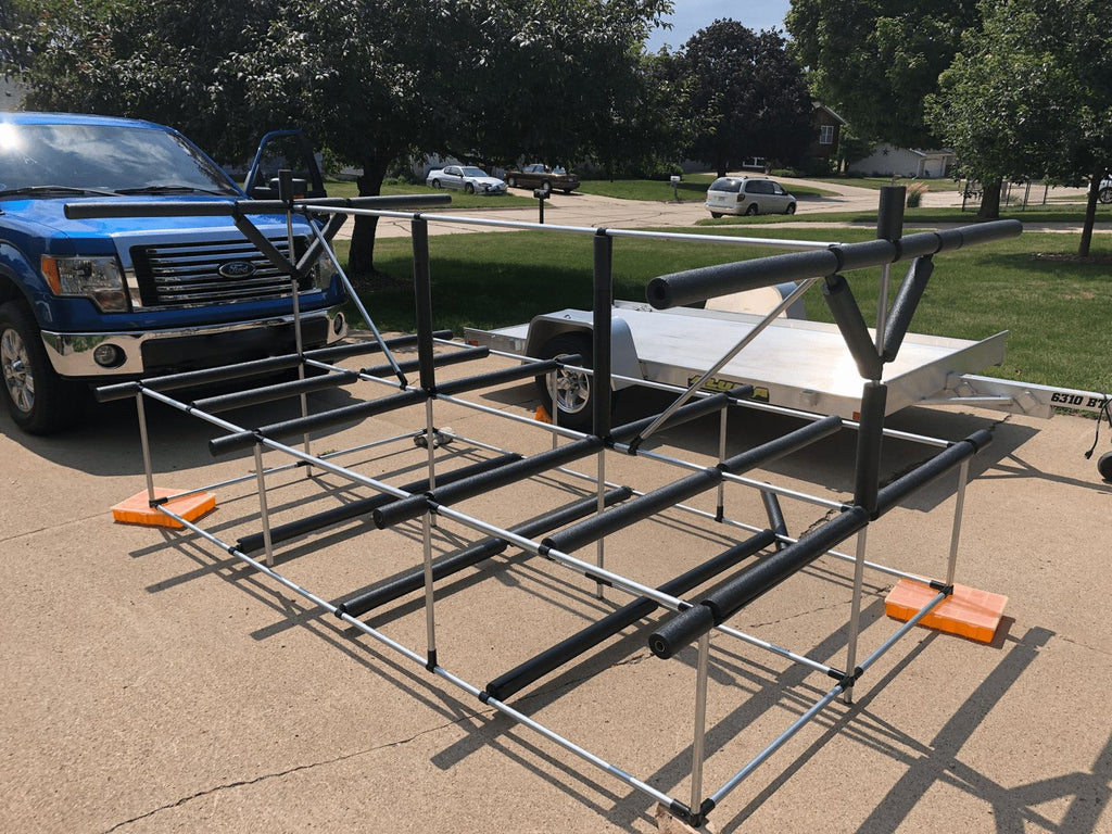 Rack Frame off the Trailer