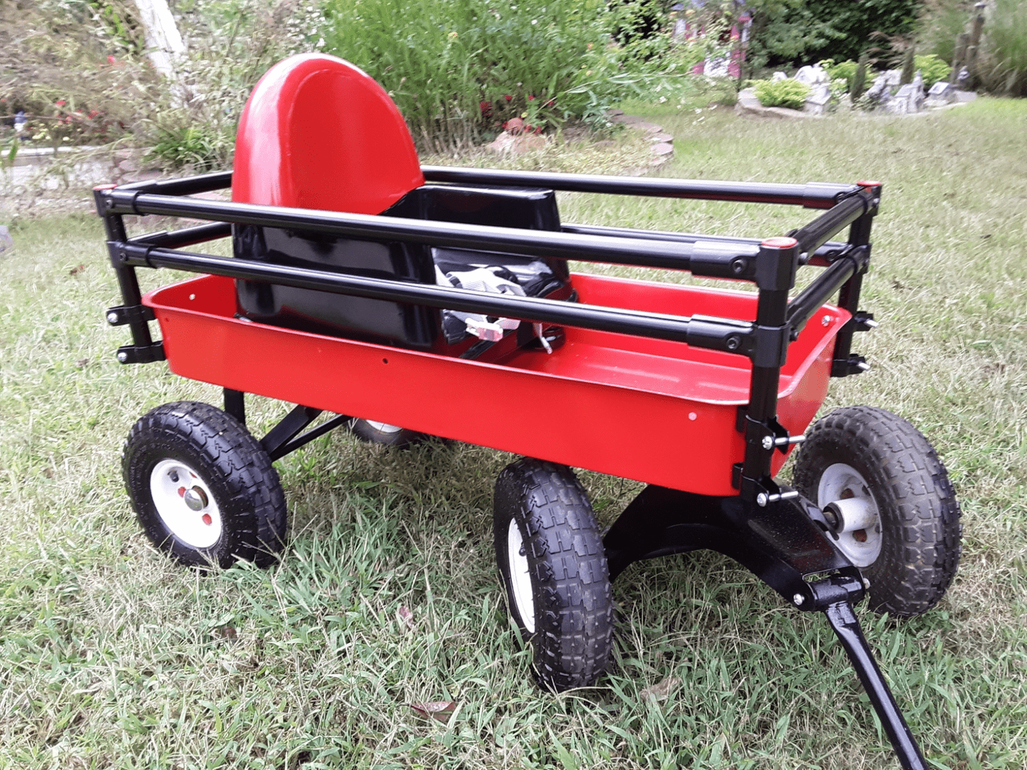 Wagon With Conduit Hangers On the Side