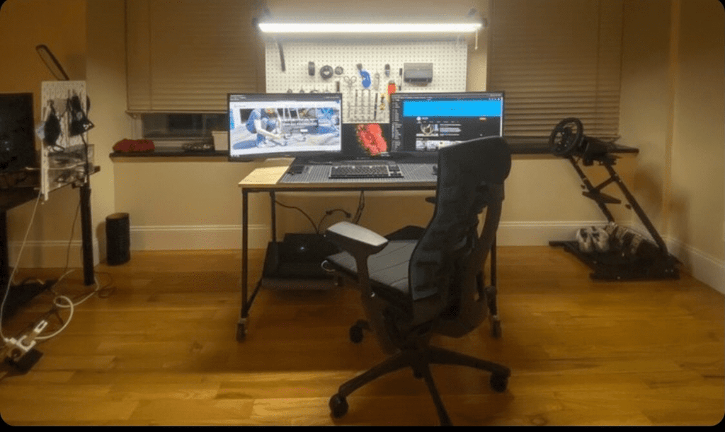 Custom Dual Monitor Desk Setup
