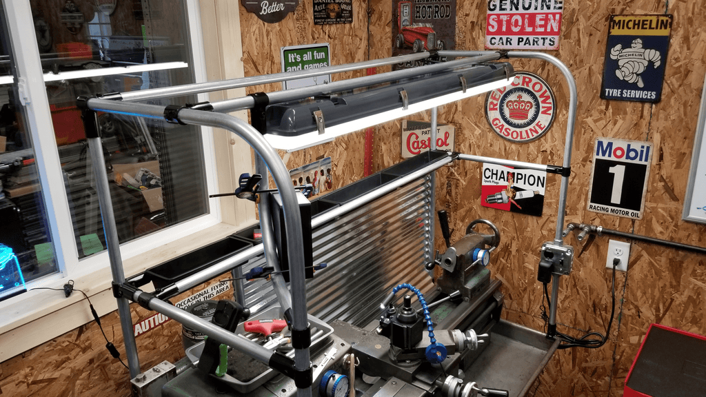 Side View Of Clausing Lathe Frame &  Tool Organizer