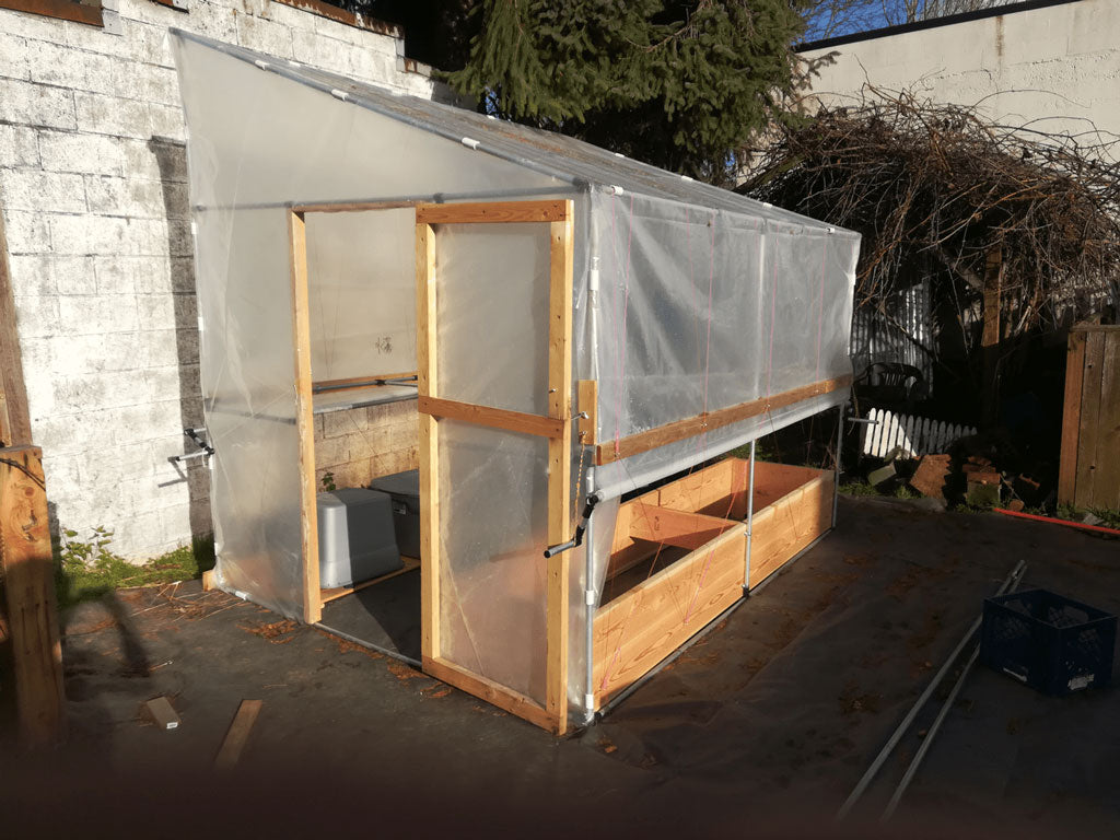 DIY Shed Style Greenhouse