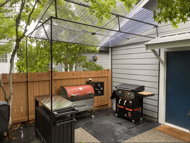 Backyard Barbecue Canopy Post