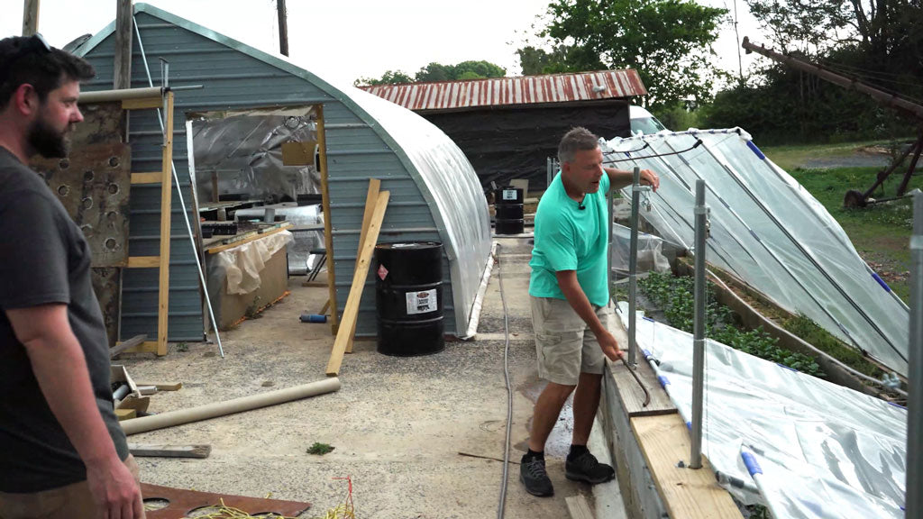 Rick Showing The DIY Cold Frame