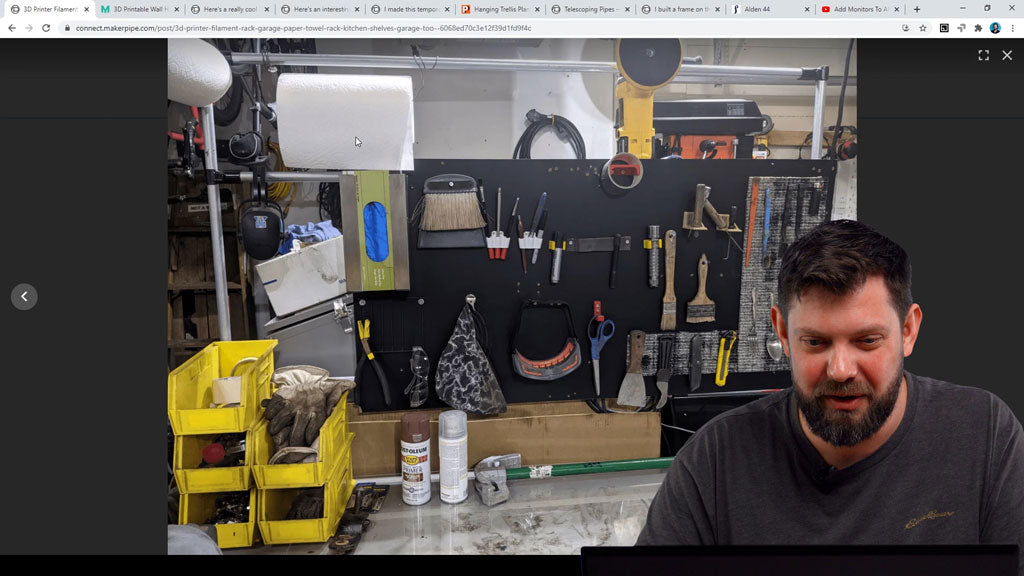 Maker Pipe Storage - Tool Wall