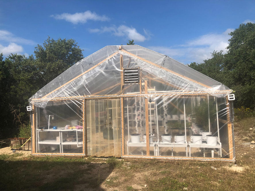 DIY Greenhouse With Maker Pipe Roof