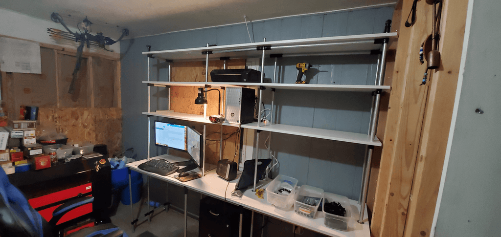 Custom Dual Workstation For Two People