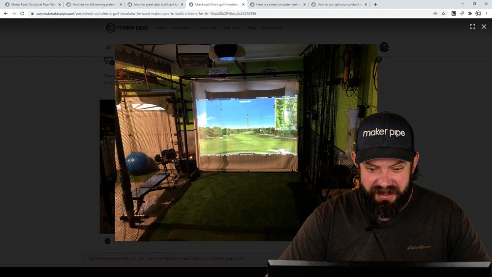 DIY Golf Simulator Impact Screen