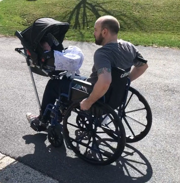 DIY Wheelchair Baby Carrier