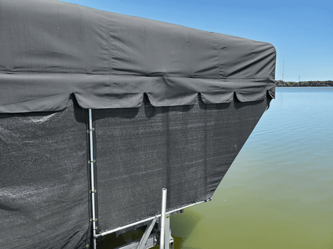 Boat shade using pipe fittings and cloth