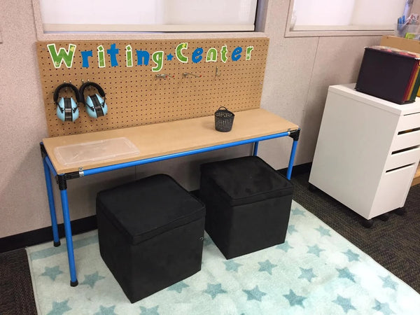 create a learning center for the kids maker pipe