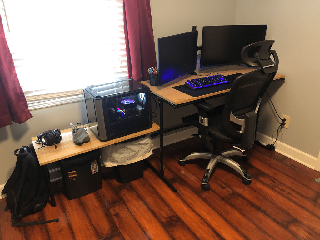 Two Tiered DIY Gaming Desk