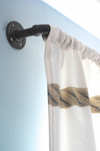 diy curtain rod maker pipe