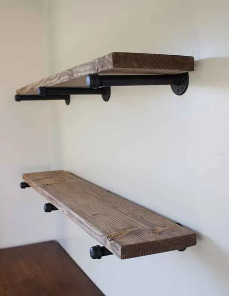 floating shelves maker pipe