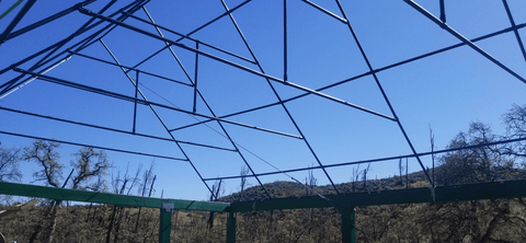Greenhouse roof made out of pipe