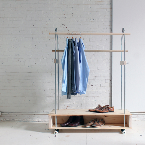 mobile clothes rack modular pipe maker pipe
