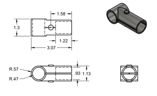 T Connector Dimensions