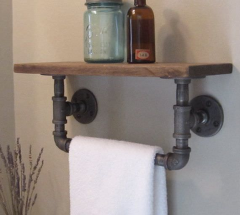 diy towel rack maker pipe