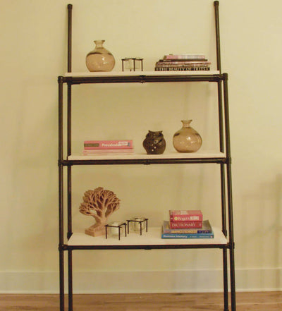 DIY Industrial Pipe Shelving With Three Shelves