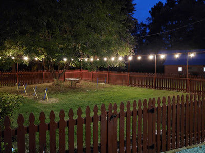 Backyard LED Fence Light System