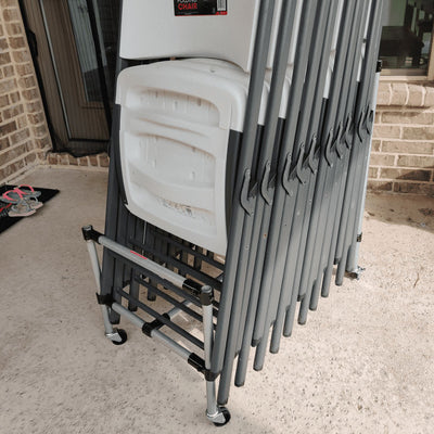 DIY Folding Chair Cart Storage