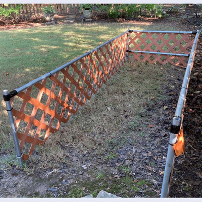 DIY Dog Run With Lattice