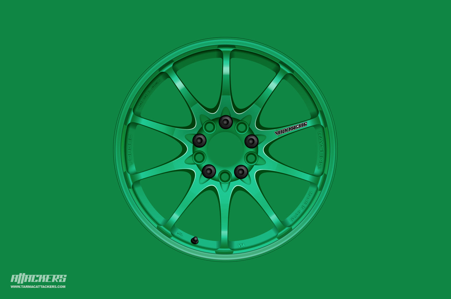 Takata Green Volk CE28 wheel